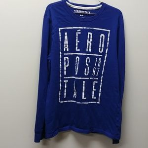 Aeropostale Logo Blue Long Sleeve Shirt